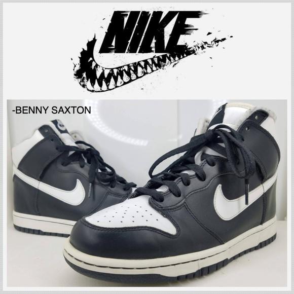 Nike Other - Nike Dunk High Black/White 2004 Vintage 309432-011